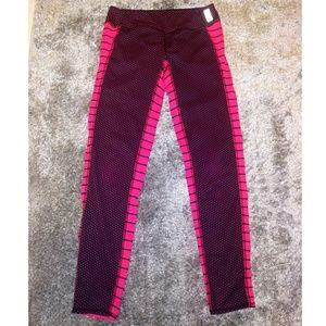 Zella girl polka dots stripes xl athletic leggings